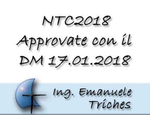 NTC2018 in vigore dal 22 marzo 2018